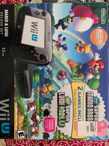 Nintendo wiiu 12 juegos, 2 wiimote plus y 2 volantes