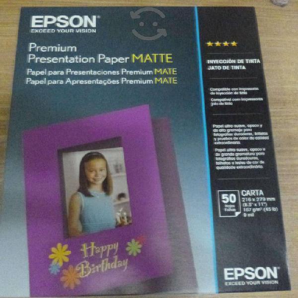 Papel fotografico epson heavyweight 50 hojas carta