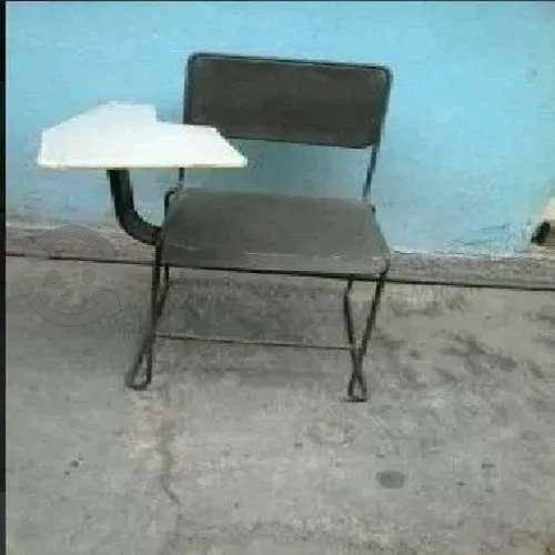 Pupitre de metal silla escolar 2x1