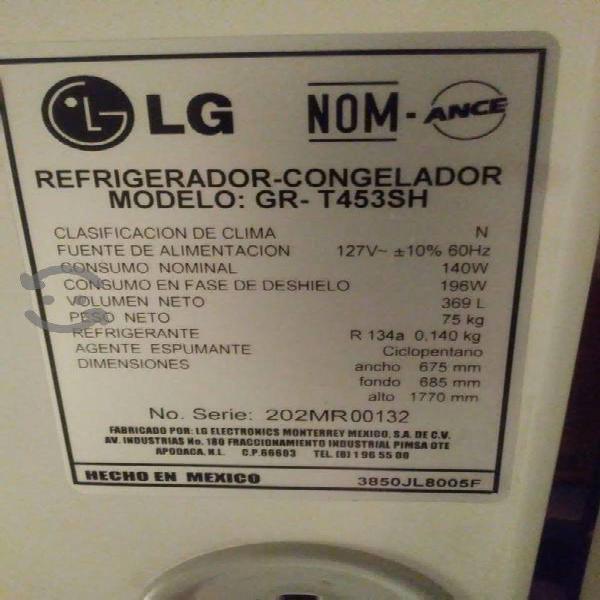 Refrigerador lg 13 pies, modelo [gr-t453sh]