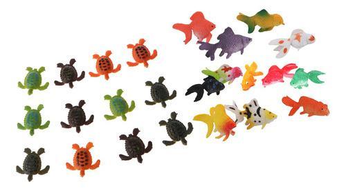 24 piezas de plástico de los animales marinos de juguete de