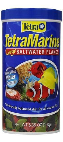 Alimento para peces tetra tetramarine saltwarer flakes 160g