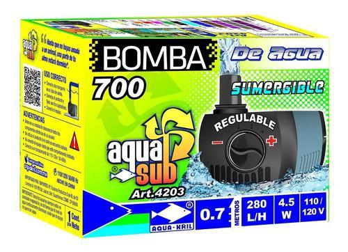 Bomba De Agua Mini Sumergible 0.70m Fuente Acuario 4203