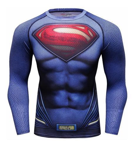 Camisa compresion dc comics superman hombre de acero playera