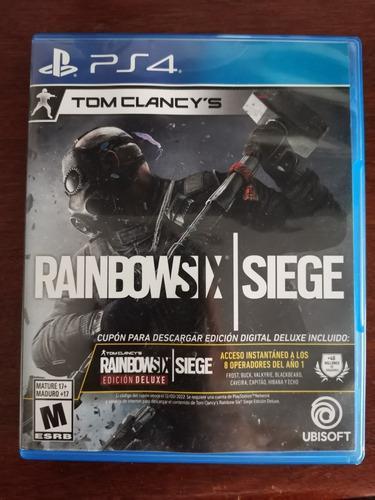 Juego playstation 4 rainbowsix siege