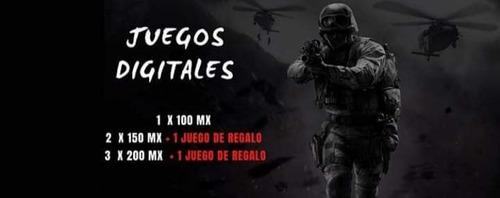 Juegos digitales para xbox one, xbox 360, ps3,ps4