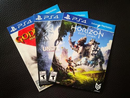 Pack juegos ps4 - horizon, uncharted 4, gow3