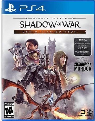 Ps4 - shadow of war definitive - juego físico (mercado