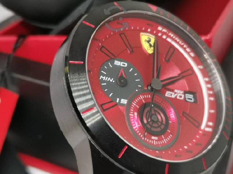 Reloj ferrari cronógrafo nuevo rojo