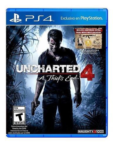 Uncharted 4 ps4 juego físico nuevo sellado envío gratis