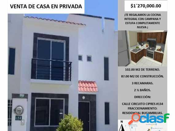 Gran oportunidad de casa en venta en privada