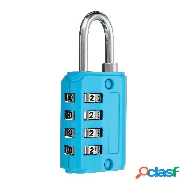 Mini 4 dígitos combinación seguridad seguridad candado número equipaje viaje cajón cerradura