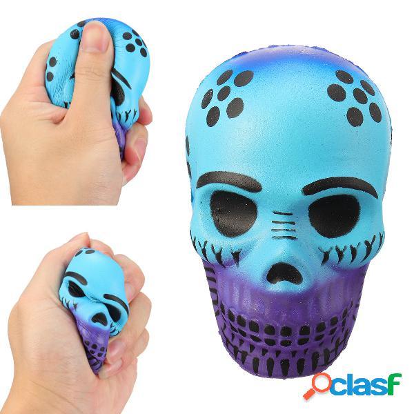 Galaxy halloween skull squishy suave levantamiento lento juguete de alivio de presión squeeze