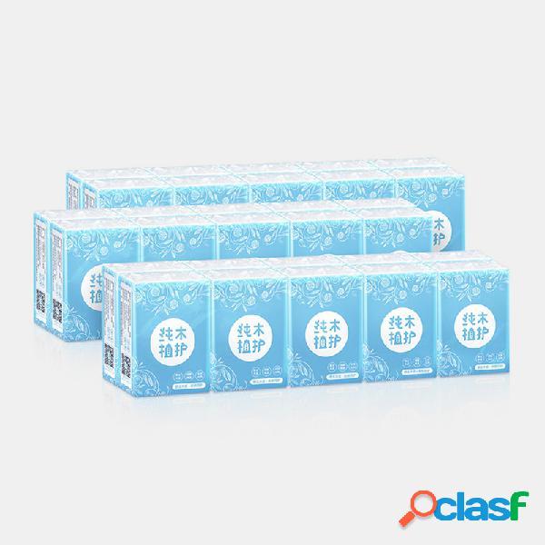 30 paquetes de papel de seda agradable para la piel toallas de papel de mini servilletas portátiles de 3 capas soft papel de pulpa de madera