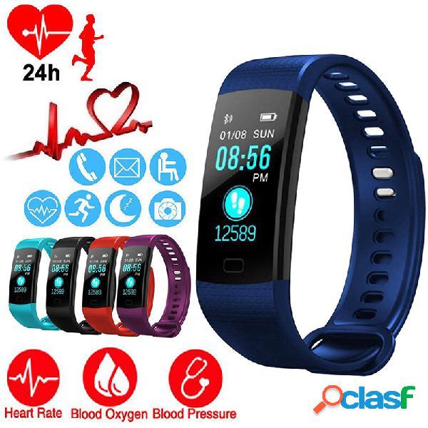 Inteligente banda corazón tasa de presión arterial monitor bluetooth pantalla a color smartband aptitud rastreador
