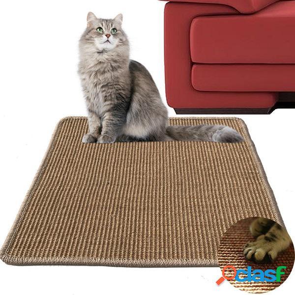 Gato juguete garras pad guardia patas de mesa mascotas alfombra sofá saver cojín de sisal creativo gato tablero del rasguño