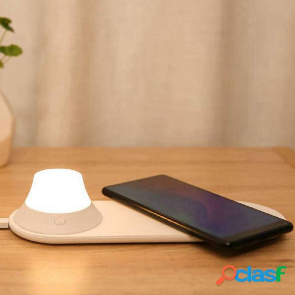 Cargador inalámbrico yeelight con led night light atracción magnética carga rápida para iphone