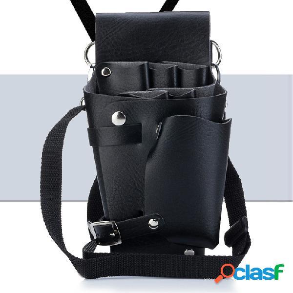 Bolsa de herramientas para peluquería profesional de 1 pieza bolsas de tijera para peluquero profesional cinturón desmontable para hombro con cintura