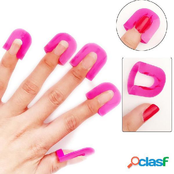26 piezas herramienta antidesbordamiento para uñas de uñas uish polish desbordamiento herramienta adhesiva para arte de uñas