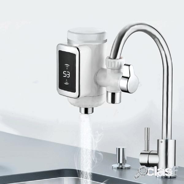 Wf-009 grifo de agua de la cocina 3 sec led máquina de calentamiento de agua eléctrica giratoria agua fría y caliente