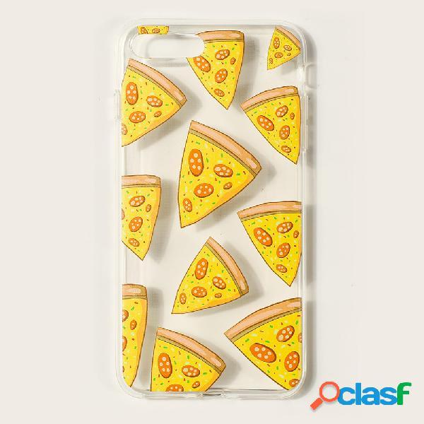 Iphone caso imprimir pizza fresca estilo fresco patrón para iphone