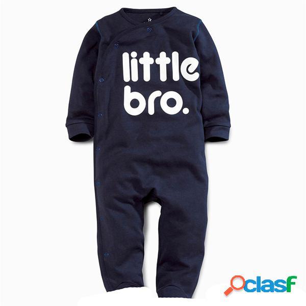 Impreso infantil recién nacido niños bebé niño niña mameluco trajes mono para 0-18 m