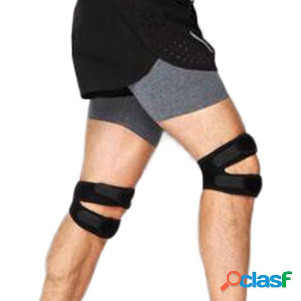 Correa de guardia de seguridad ajustable para hombre rodillera de apoyo elástica rodillera patella para deporte aptitud run