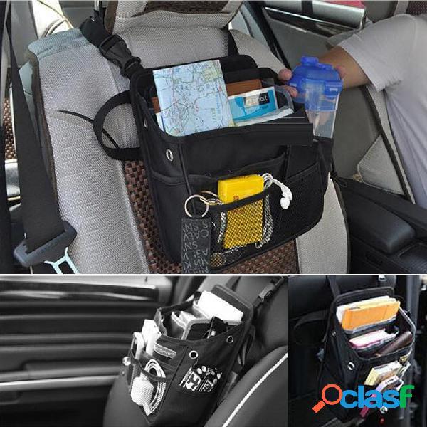 Organizador de asiento de coche bolsa de almacenamiento de viaje suspensión volver impermeable multi bolsillo