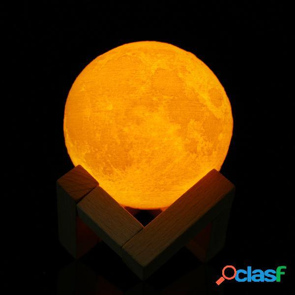 El color del usb de la lámpara de la luna del sensor 3d del tacto 8cm que cambia la luz de la noche de led del led embroma el regalo