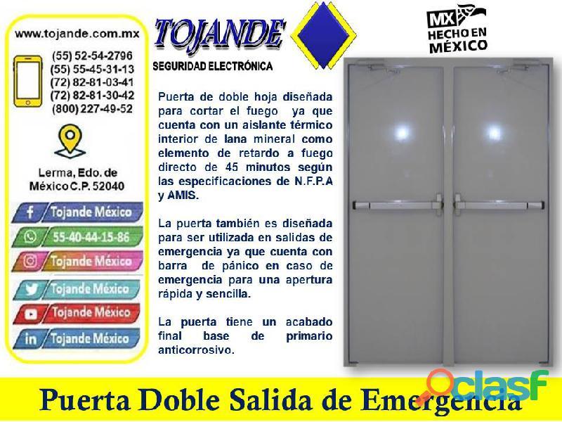 PUERTA DOBLE HOJA SALIDA DE EMERGENCIA TOJANDE