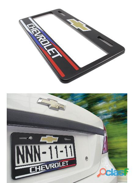 1 porta placas universal chevrolet 31x16 alta calidad diseño