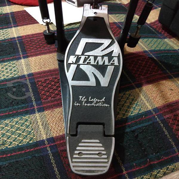 Batería pedal doble tama con estuche rígido