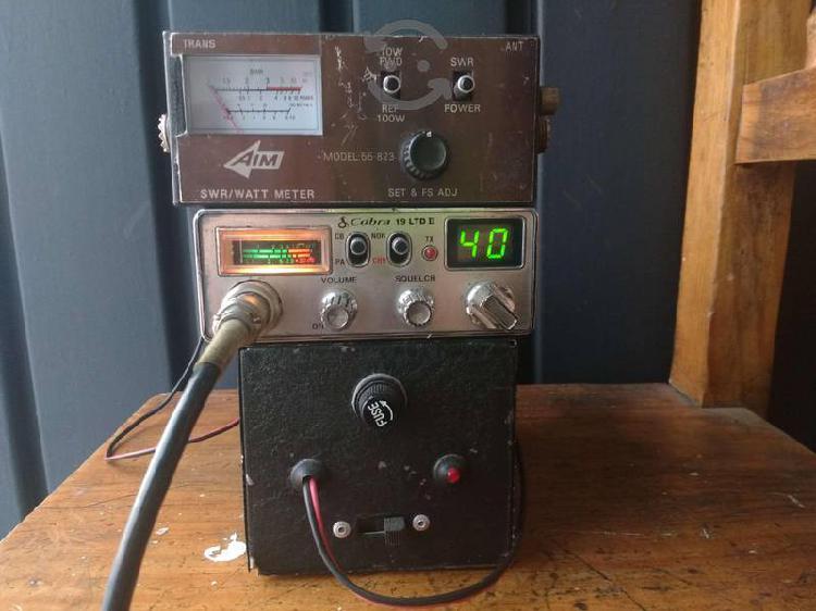 Cb radio, swr/watt meter, fuente 12v