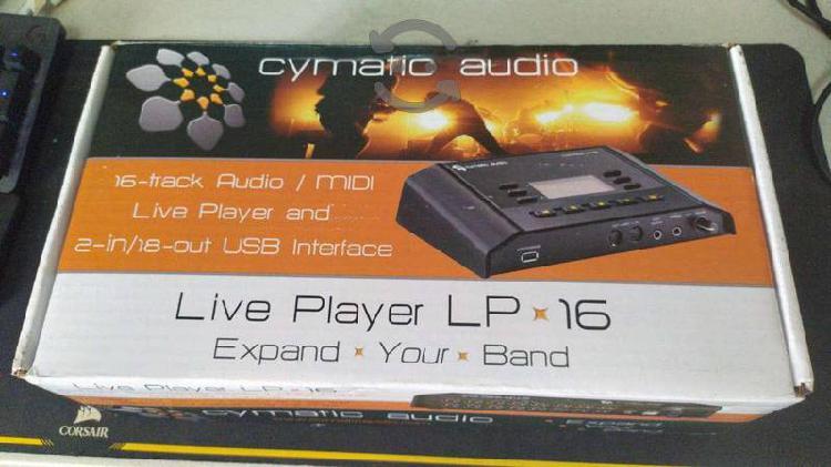 Cymatic audio lp-16 reproductor en directo