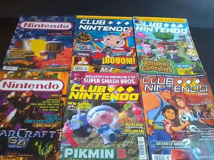 Lote revistas club nintendo puzzle / estrategia /