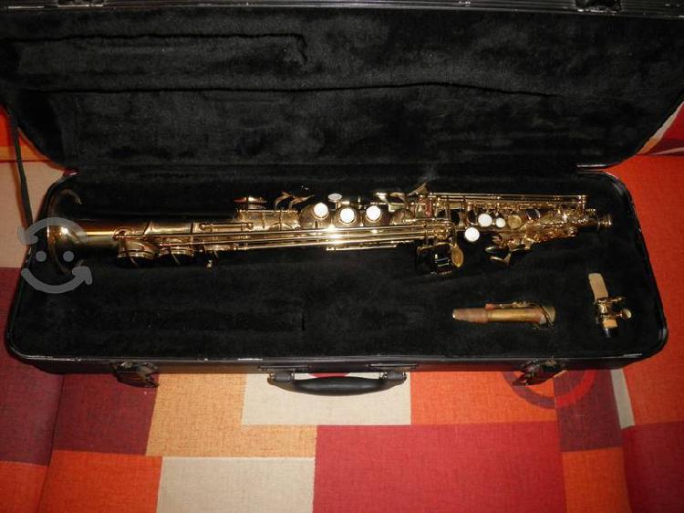 Saxofon soprano recto silvertone