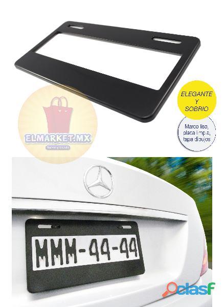 1 portaplacas liso personalizable 31x16 alta calidad plastico