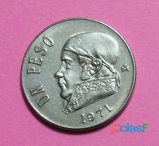 Moneda 1 peso morelos grande mexico 1971 usado (ver fotos)