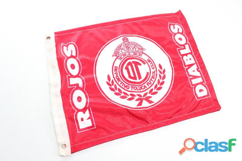 Bandera Diablos Rojos Toluca 37x27 Nueva Coche Ventana