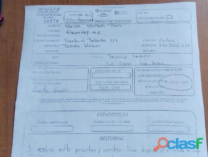 Copiadora kyocera mod 1635 buen negocio usado (ver fotos)