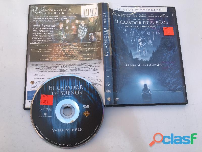 El Cazador De Sueños Peli Dvd Stephen King Usado (ver Fotos)