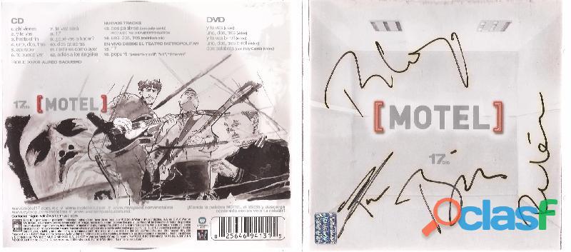 Motel 17 Bis Cd Musica Y Dvd Autografiado Nuevo Pop