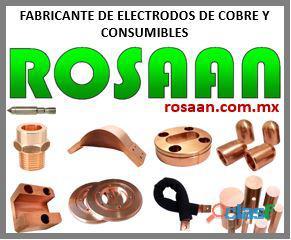 Rosaan   Electrodos de Cobre, Barras, Soleras, Elkonite, Cables trenzados y más.