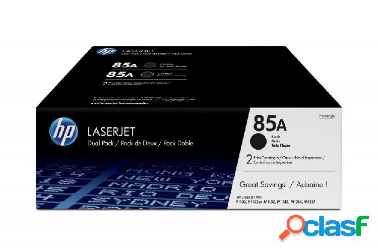 Tóner hp 85a paquete doble negro, 2 x 1600 páginas - ¡compra y recibe el 5% en saldo de regalo para tu siguiente pedido!