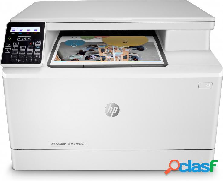 Multifuncional hp color laserjet pro m180nw, color, láser, inalámbrico, print/scan/copy