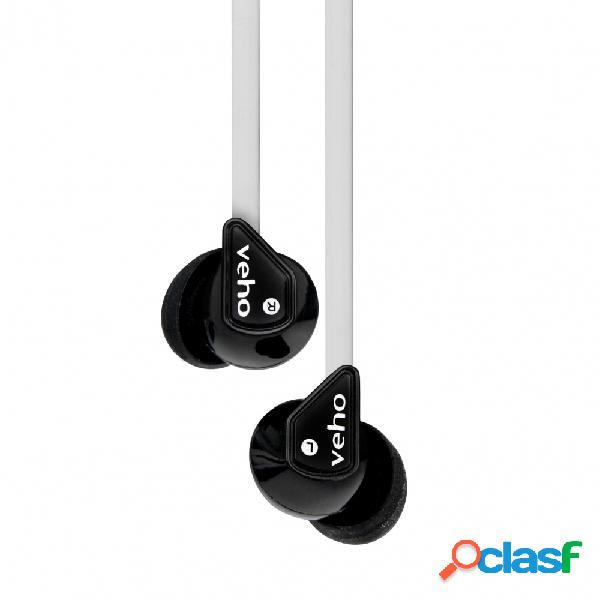 Veho audífonos deportivos 360° z-1, alámbrico, 1.25 metros, blanco