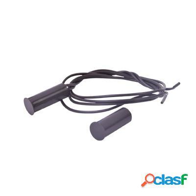 Sfire contacto magnético sf-1017-br para puertas y ventanas, alámbrico, negro