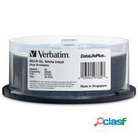 Verbatim discos virgenes blu-ray, bd-r, 6x, 50gb, 25 piezas