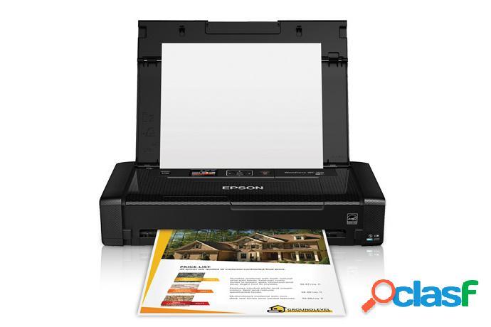 Epson impresora móvil workforce wf-100, inalámbrico, color, a4, usb 2.0, negro