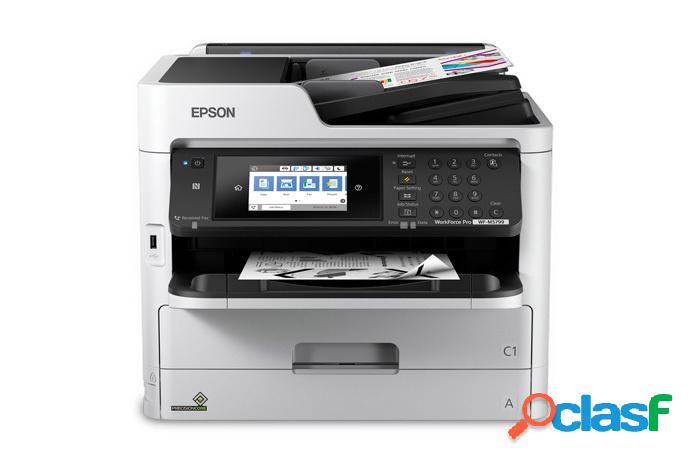 Multifuncional epson workforce pro wf-m5799, blanco y negro, inyección, inalámbrico, print/scan/copy/fax